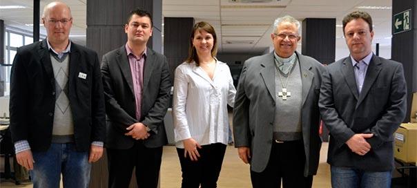 Dom Altieri realiza visita de cortesia à direção da IMED Faculdade