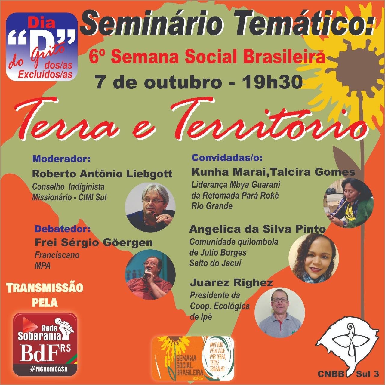 6ª Semana Social Brasileira promove série de debates no Regional Sul 3