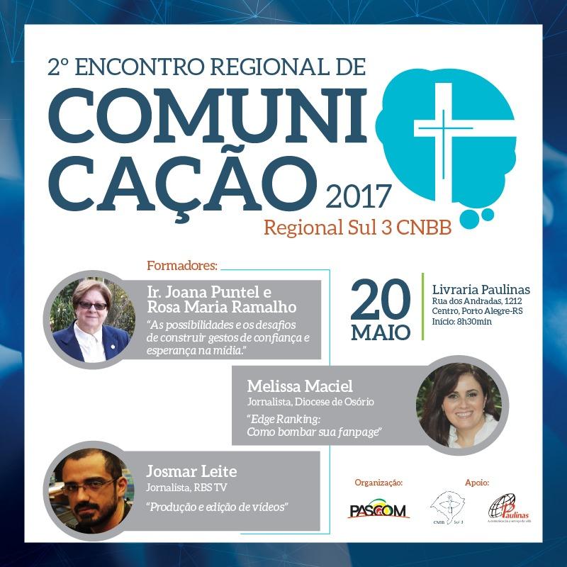 Comunicação e esperança: PASCOM tem encontro de formação no sábado