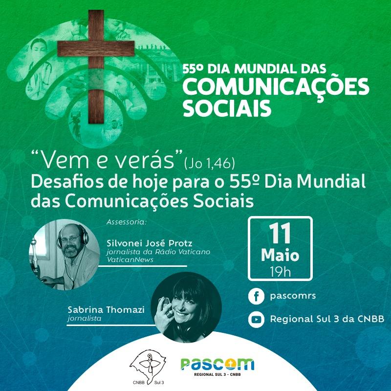 PASCOM do RS promove live nesta terça-feira pelo Dia da Comunicação