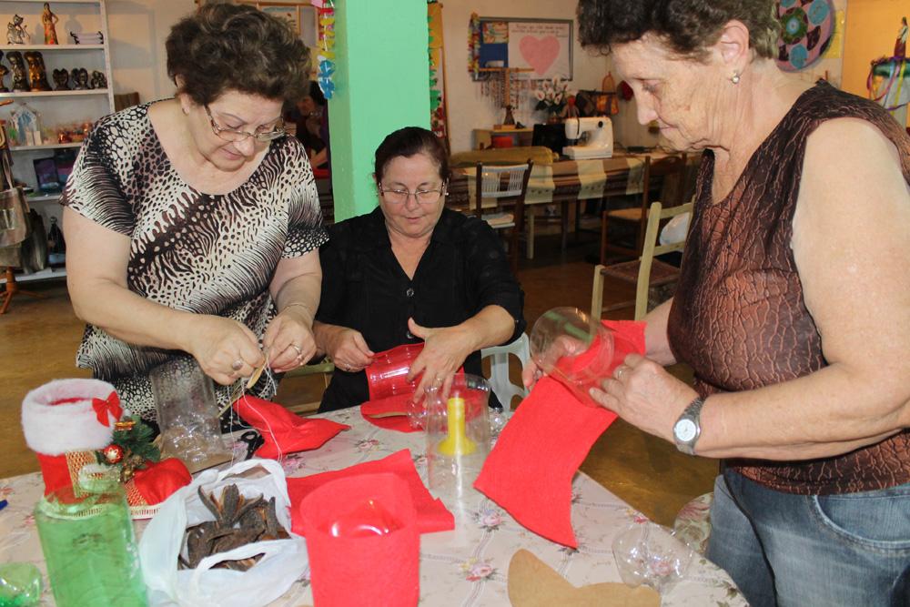 Cáritas realiza oficina de Alimentação e Artesanato em São Domingos do Sul