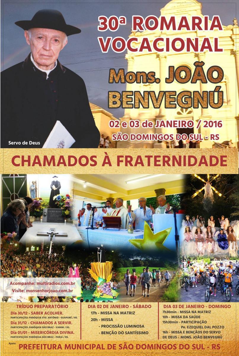 Fé e graças em São Domingos do Sul: comunidade prepara 30ª Romaria Vocacional