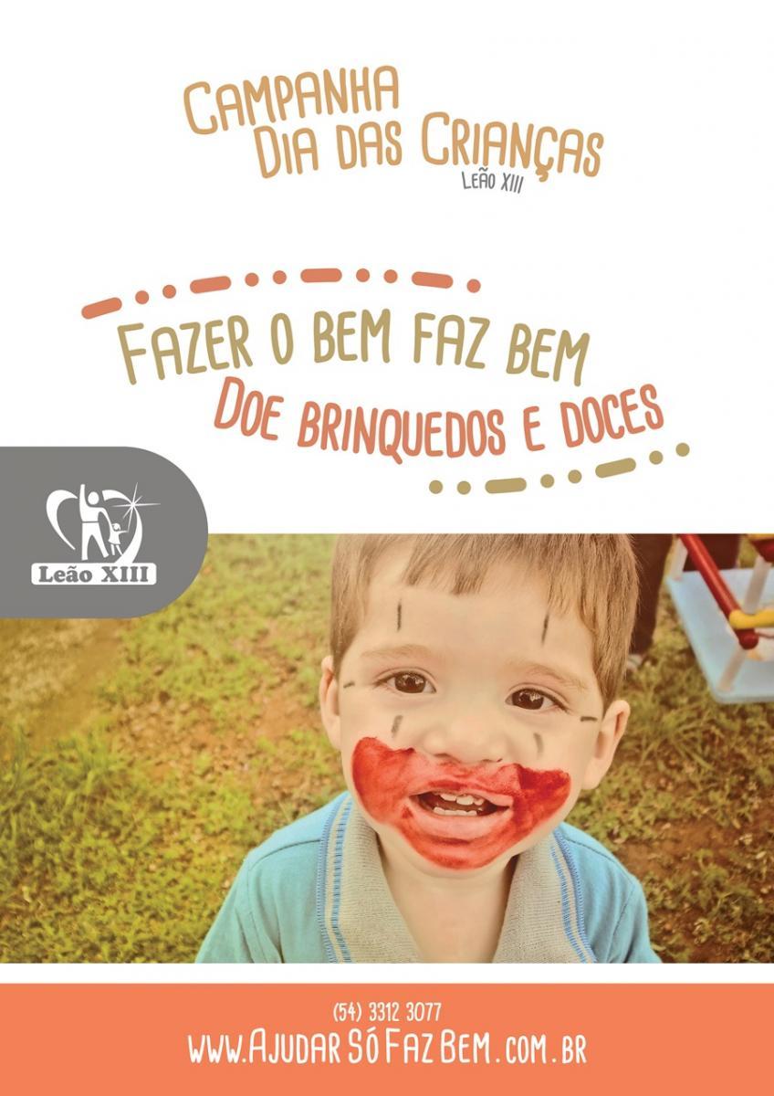 Campanha da Leão XIII arrecada doces e brinquedos para o Dia das Crianças