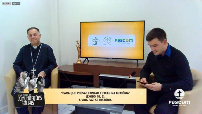 Pascom Sul 3 promove live pelo Dia Mundial das Comunicações Sociais