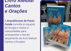 Arquidiocese realizará lançamento do novo livro Aleluia! Cantos e orações